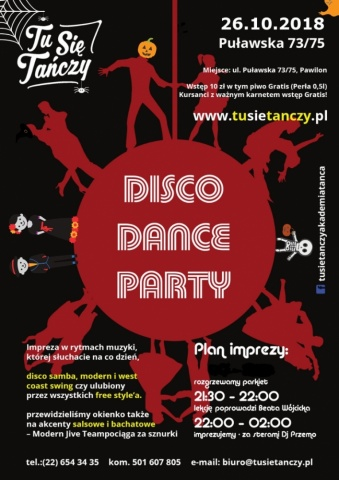 Halloween Disco Dance Party 26.10.2018 r.